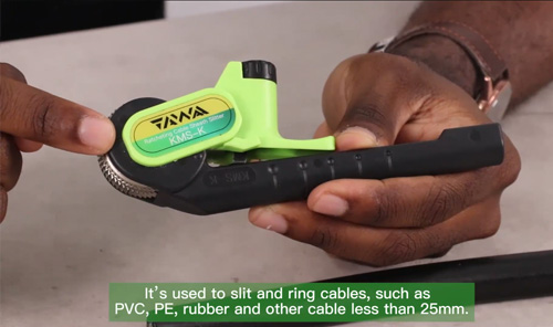 KMS-K Ratcheting Cable Slitter Video tutorial